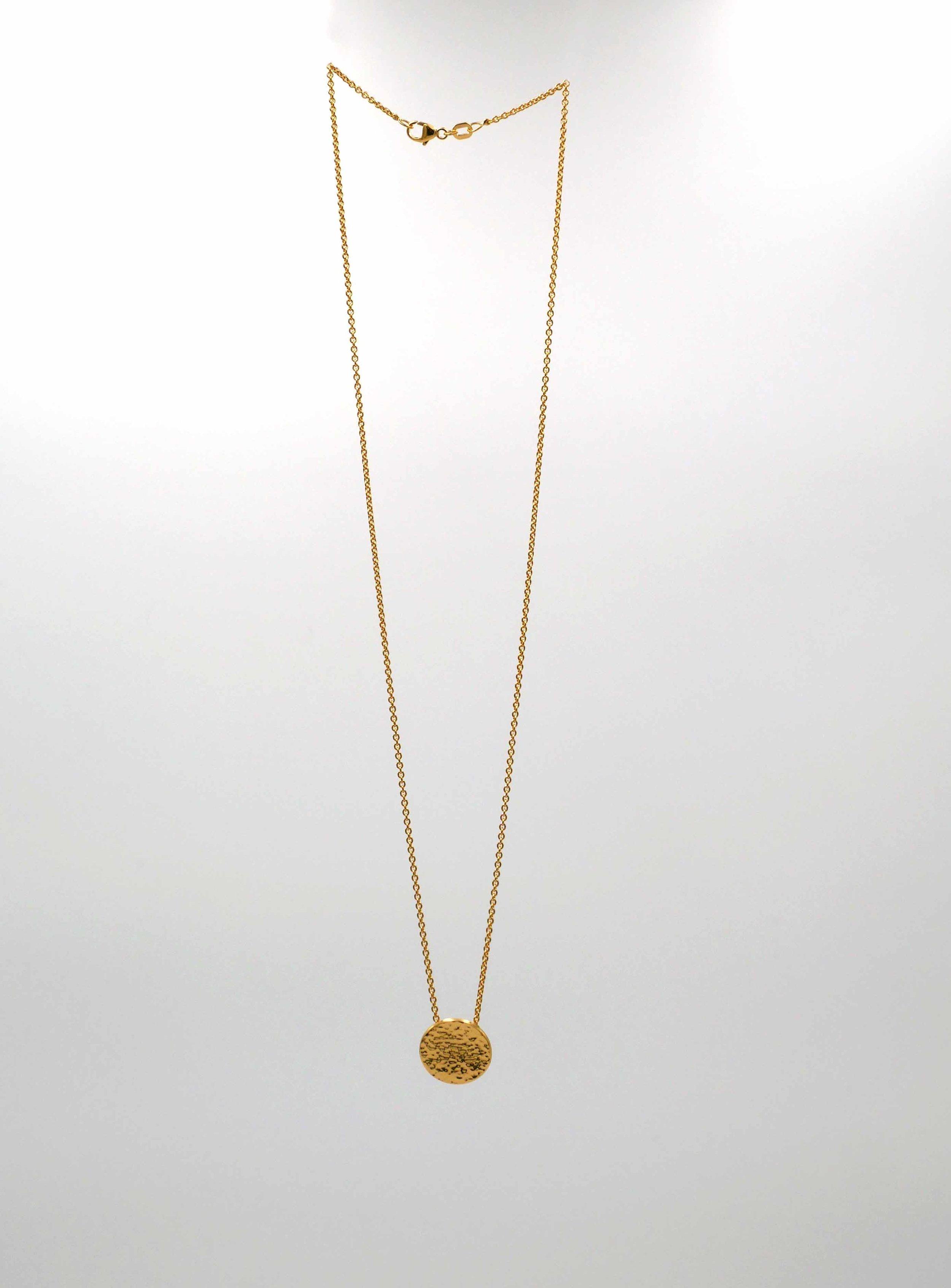Collier martelé - argent plaqué or jaune