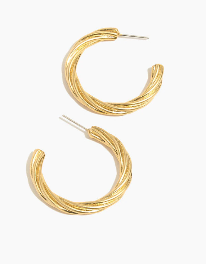 Twisted Gold Hoops - Madewell