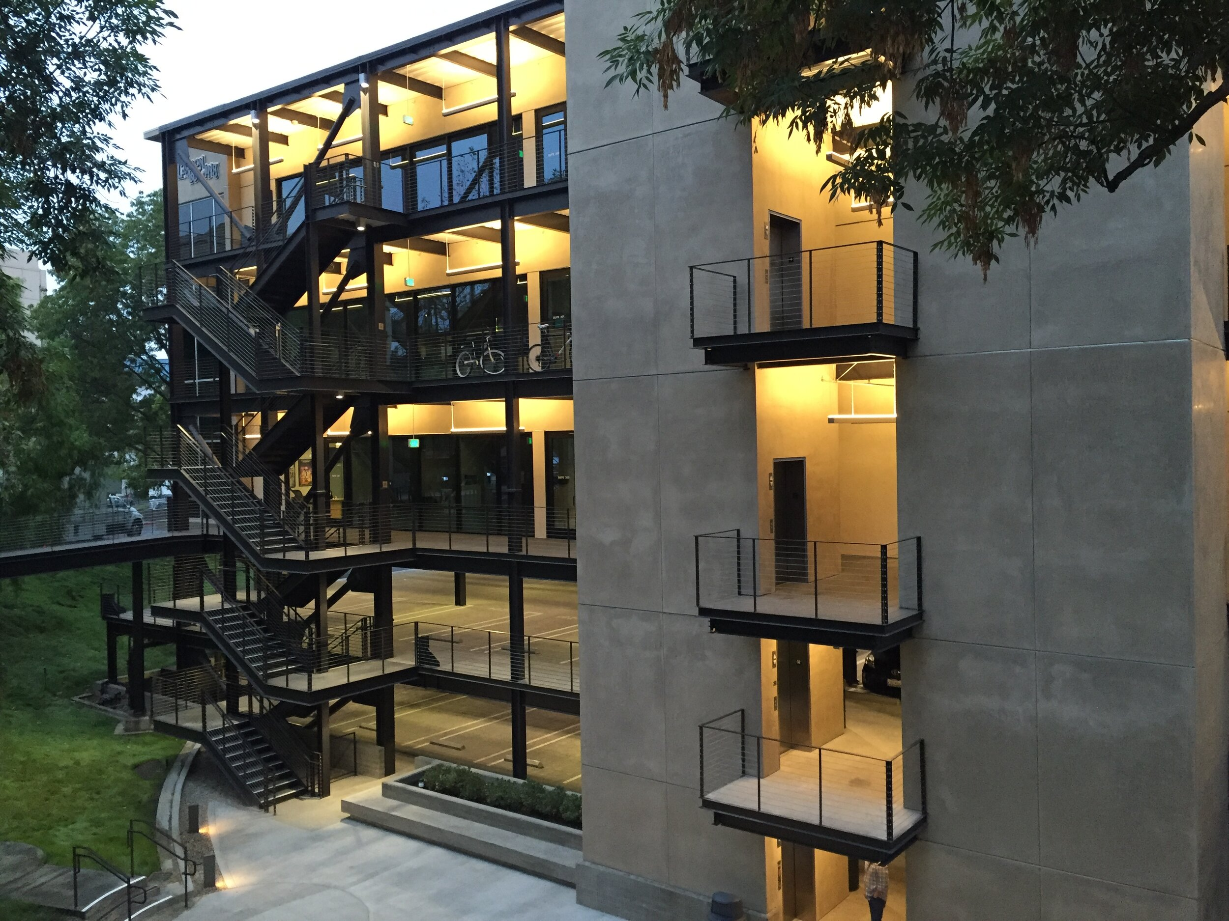 Project Summary  Market Sector: Commercial & Office  Description: 64,000 sqft production office space and parking. Type 11-A construction.  Owner: CBS Studio Center  Architect: Profeta Royalty Architects