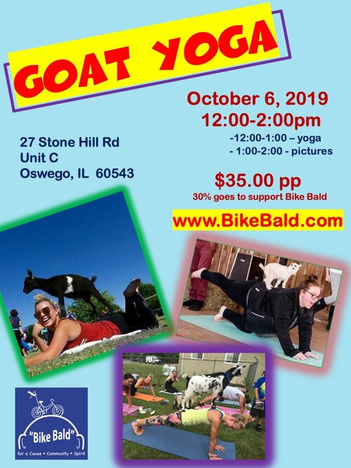 Goat Yoga - Goat Yoga is here!  Yoga with baby goats!       2 fun hours, refreshments and photo ops!