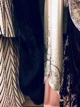 Close ups of the fabrics of Ellie's beautiful costumes, designed by Tobias Hoheisel. (Photo: Jenna Wolf / Lenny's Studio)