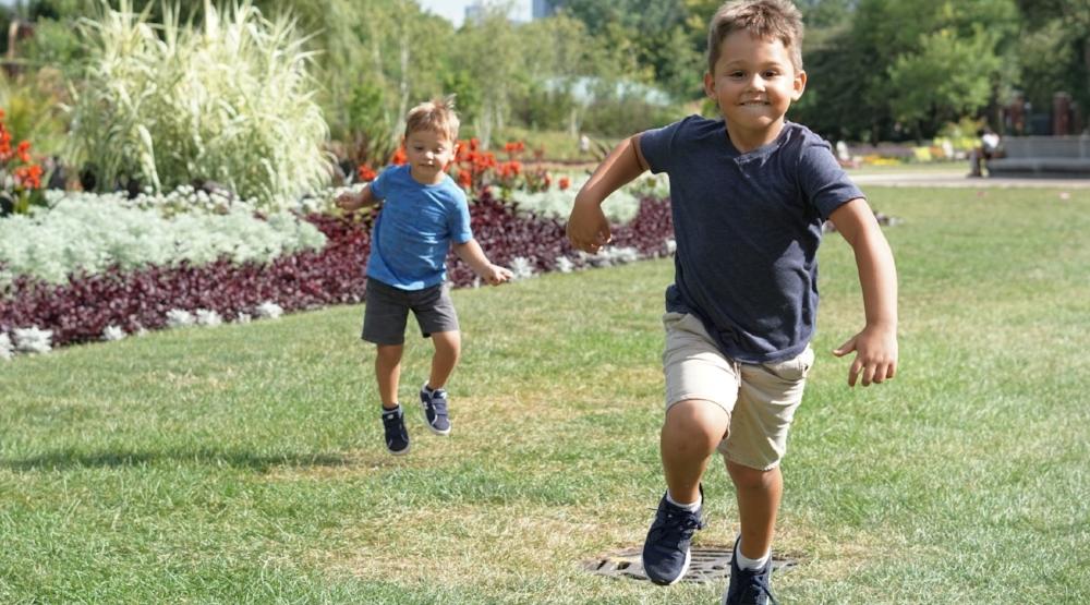 kids play in McKinney park