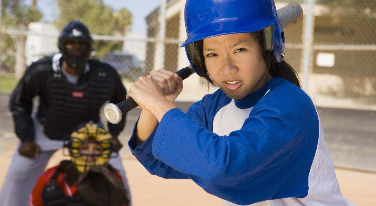 soft ball player