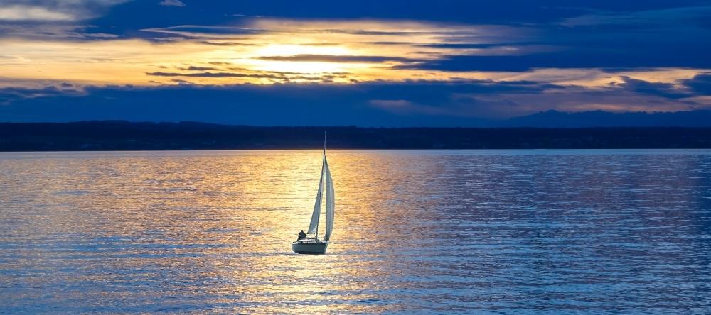 sail boat on Lewisville Lake