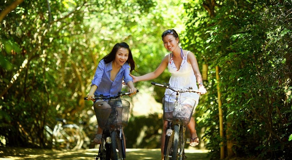 girls bike riding in Prosper