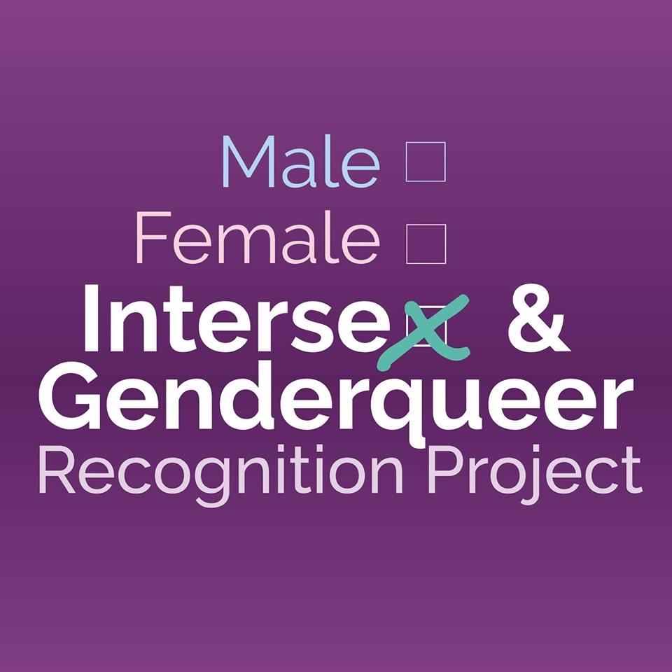 Intersex & Genderqueer Recognition Project - IGRP's mission is to create legal recognition of people whose sex and/or gender identity are non-binary by engaging in direct legal services, impact litigation, legislation, collaboration, and education.Find IGRP:Website, Facebook, Twitter