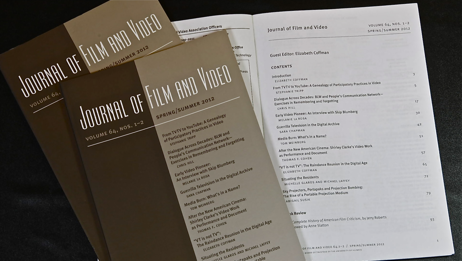 Journal of Film & Video - Double issue on early video