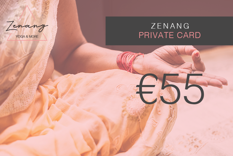 Private Card. - A special 60 minutes yoga class tailored specially for your personal need.This card is valid for 1 person only at Zenang Yoga & More shala.For small group private class, please contact us.