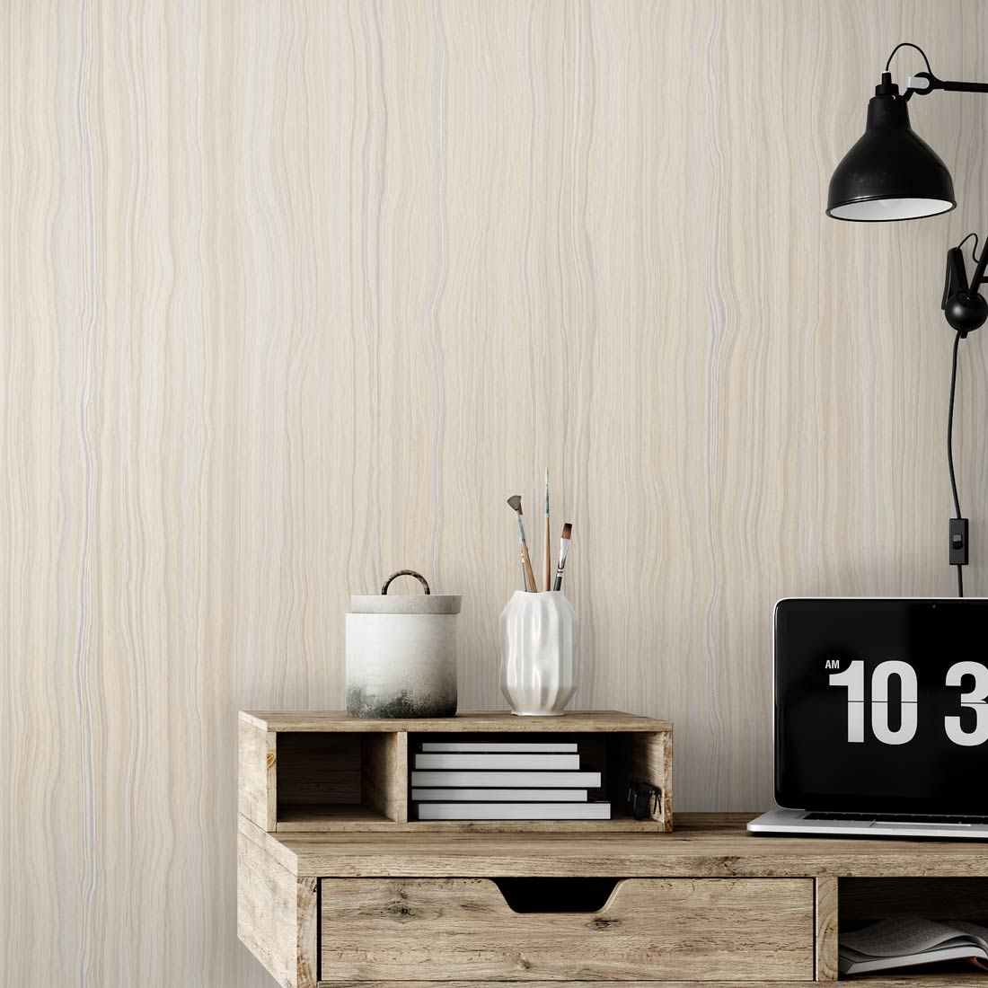 Aux Abris Woodgrain Wallpaper