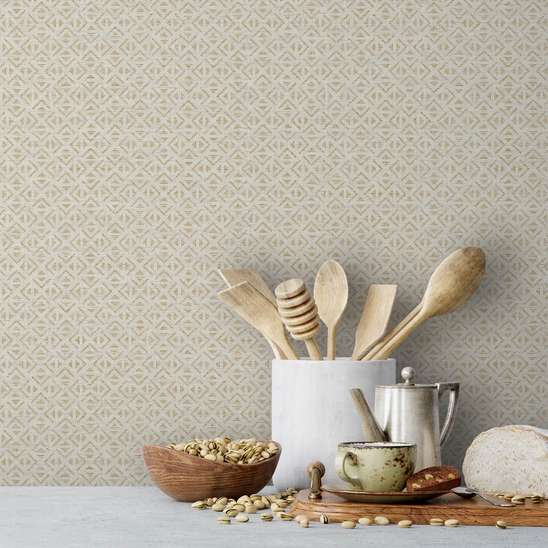 Aux Abris Blocked Vinyl Wallcovering