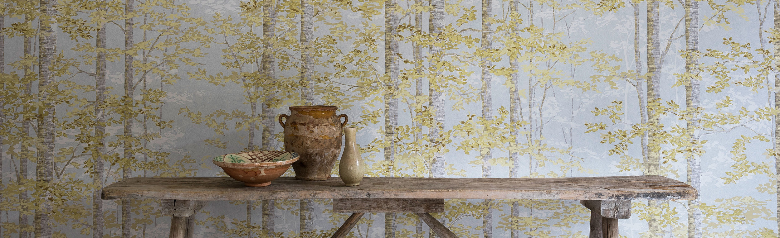 Lewis & Wood  BOSKY  Wallpaper in colorway Mellow