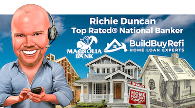 Richie Duncan, Top Rated® National Banker with Community 1st National Bank, and owner of BuildBuyRefi.com, USDANationwide.com, VANationwide.com, ManufacturedNationwide.com, NationwideHomeLoansGroup.com, RichieDuncan.com, and OTCNationwide.com.