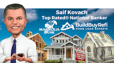 Saif Kovach, Top Rated® National Banker with Community 1st National Bank and BuildBuyRefi.com.