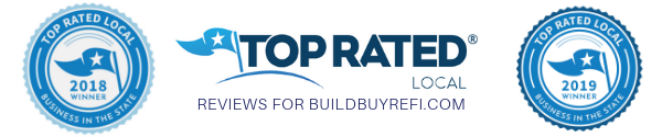 """BuildBuyRefi.com is the 2019 """"Business In The State"""" Award Winner, a Top Rated® National and Top Rated® Local Mortgage Bank operating in all 50 states."""