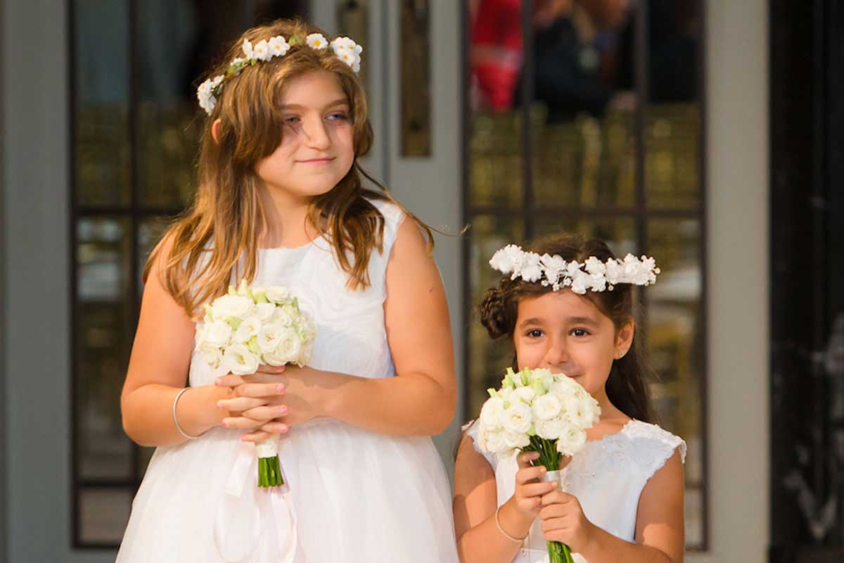 Two little flower girls