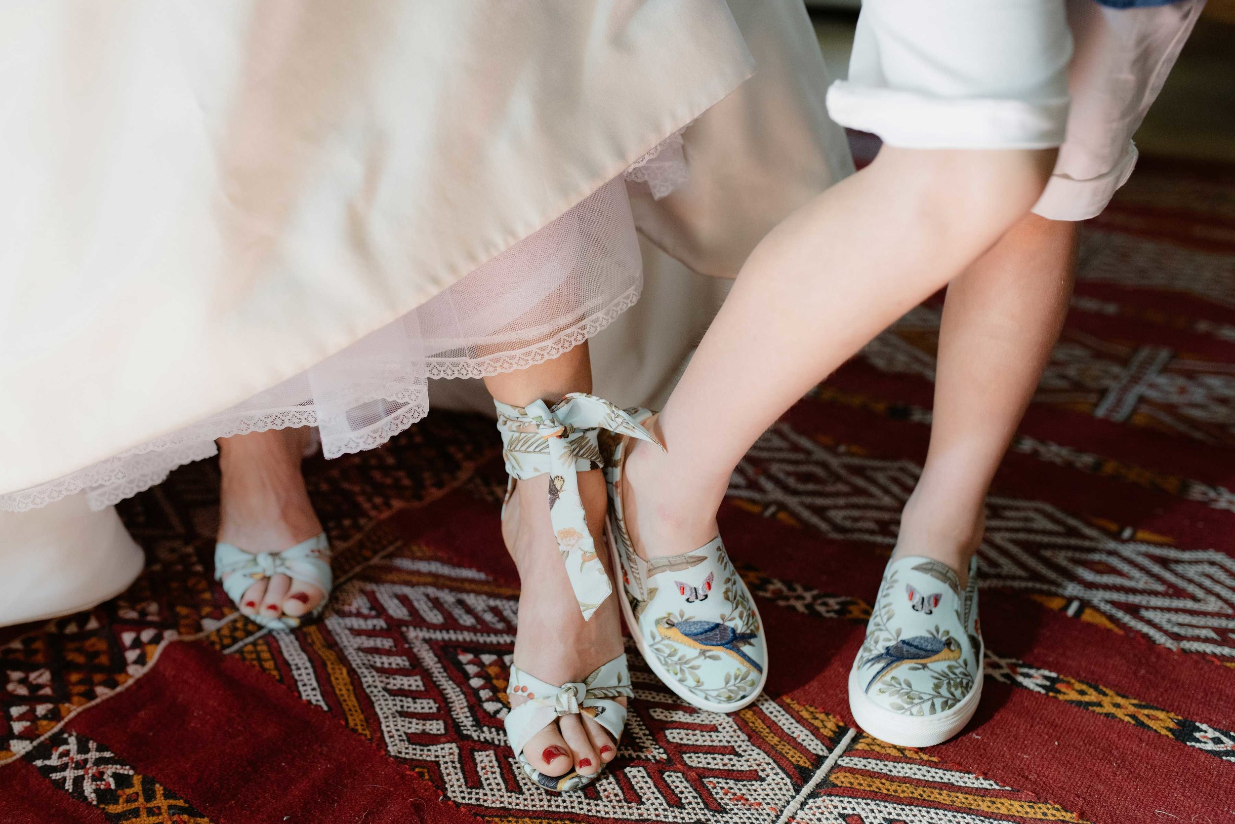 Bride Mother and son acquzurra shoes