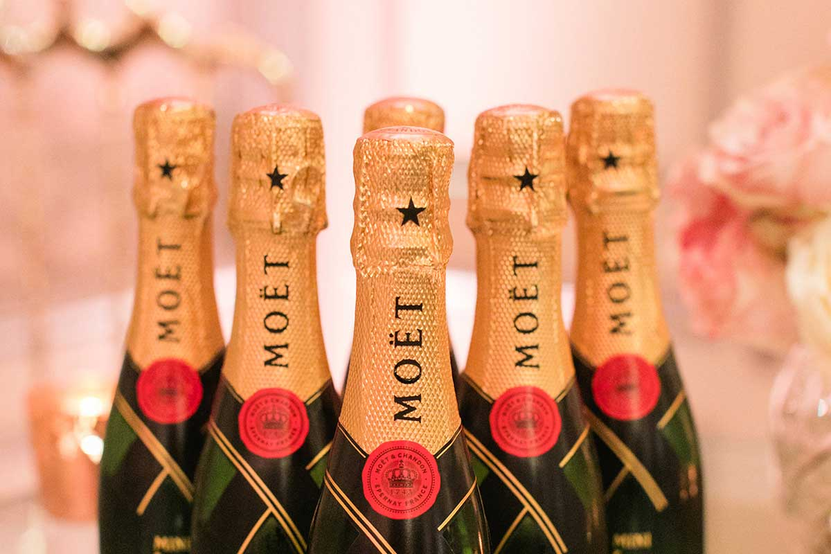Moet and Chandon bottles