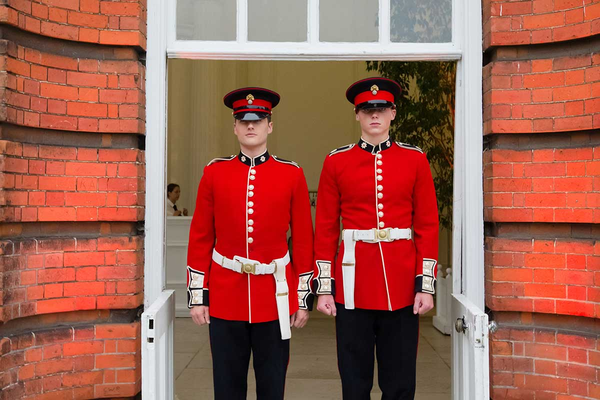 Staffing party royal guards Kensignton Palace