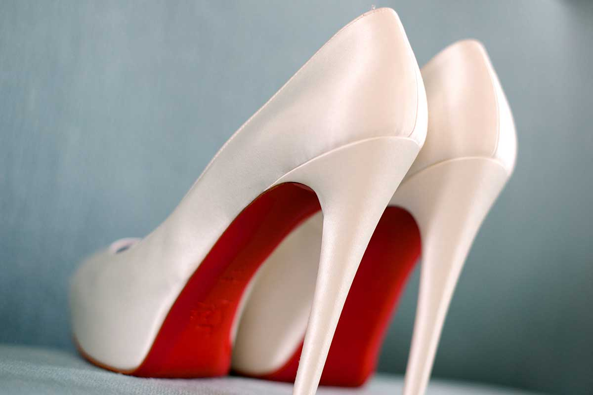 Wedding shoes red sole Louboutins