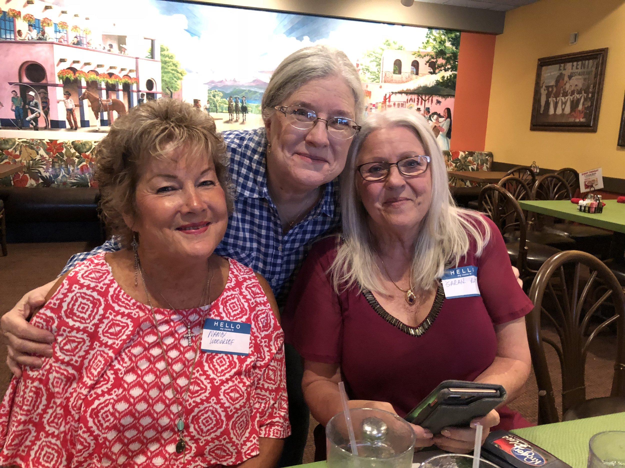 Nancy Woodruff Pate, Debbie Pace Marsden and Sarah Hott Grace