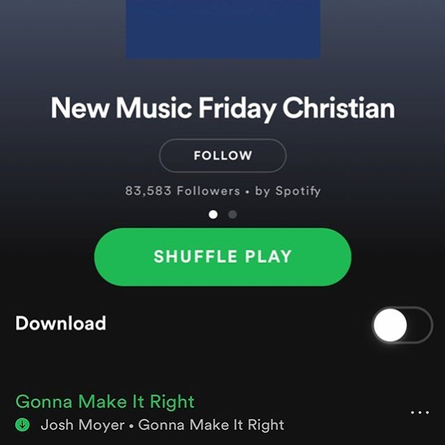 So, the editors at @spotify selected #gonnamakeitright for their New Music Friday Christian playlist! How cool is that?! Head over to the playlist to give it a listen along with other new music from @johnlegend, @vashawnmitchell and @youngoceans. Thanks, Spotify! . . . . . . . #gospel #gospelmusic #worship #crosscultural #pittsburgh #churchmusic #newmusic #music #indiemusic #gonnamakeitright #spotify #friday #newmusicfriday #spotify #spotifyplaylist
