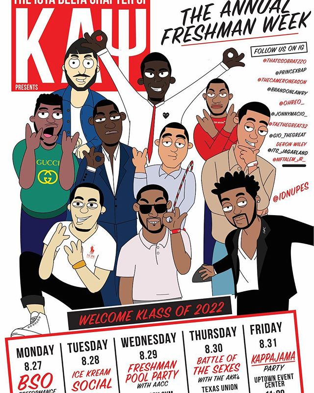 Start the school year off right with the @id_nupes at our annual freshman week! Don't forget to end the week right with #KAPPAJAMA‼️