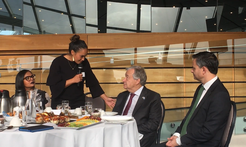 Breakfast with the Secretary General: Māori activists press the UN on climate change