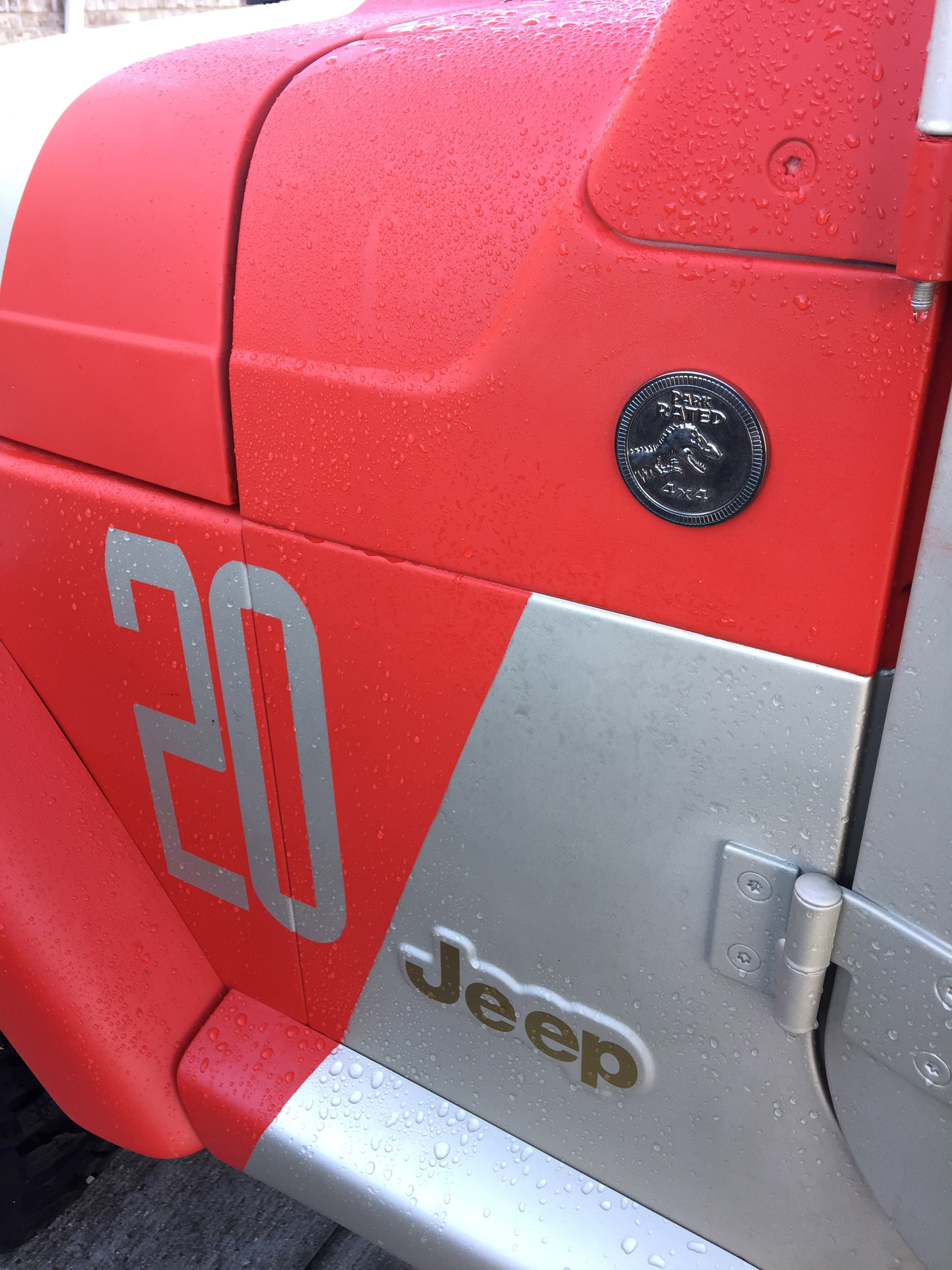 Jurassic Park Jeep Badge