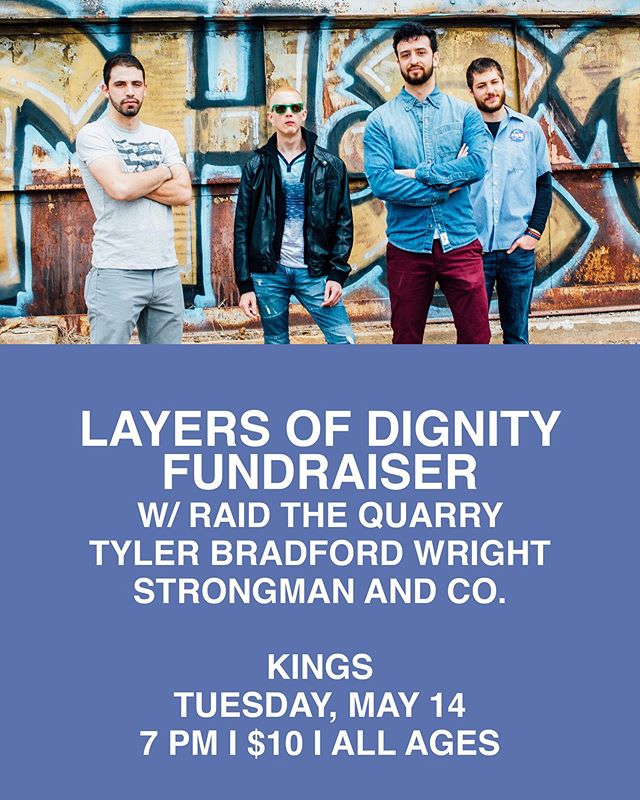 It's here y'all! Come on out Tuesday night, and be a part of helping victims of sexual assault by supporting @layersofdignity. I'm #stoked to get to share some new music with y'all alongside @harry_b_moore and @michaelvhudson!