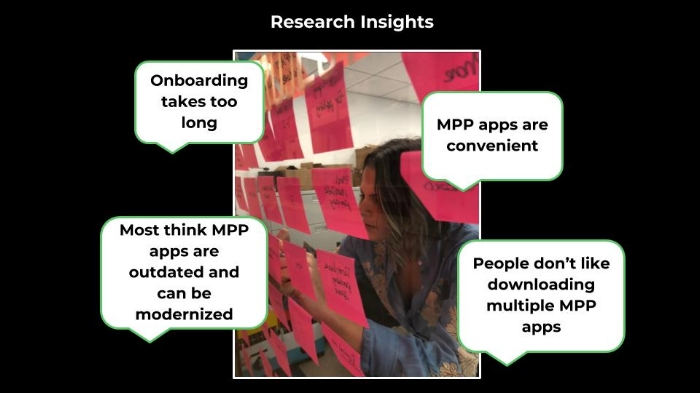 Main research insights from Affinity Map
