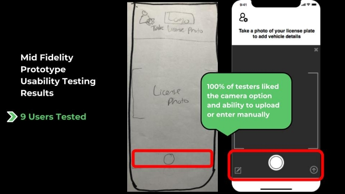 Changes made on Mid Fi based on Low Fi usability testing feedback (2)