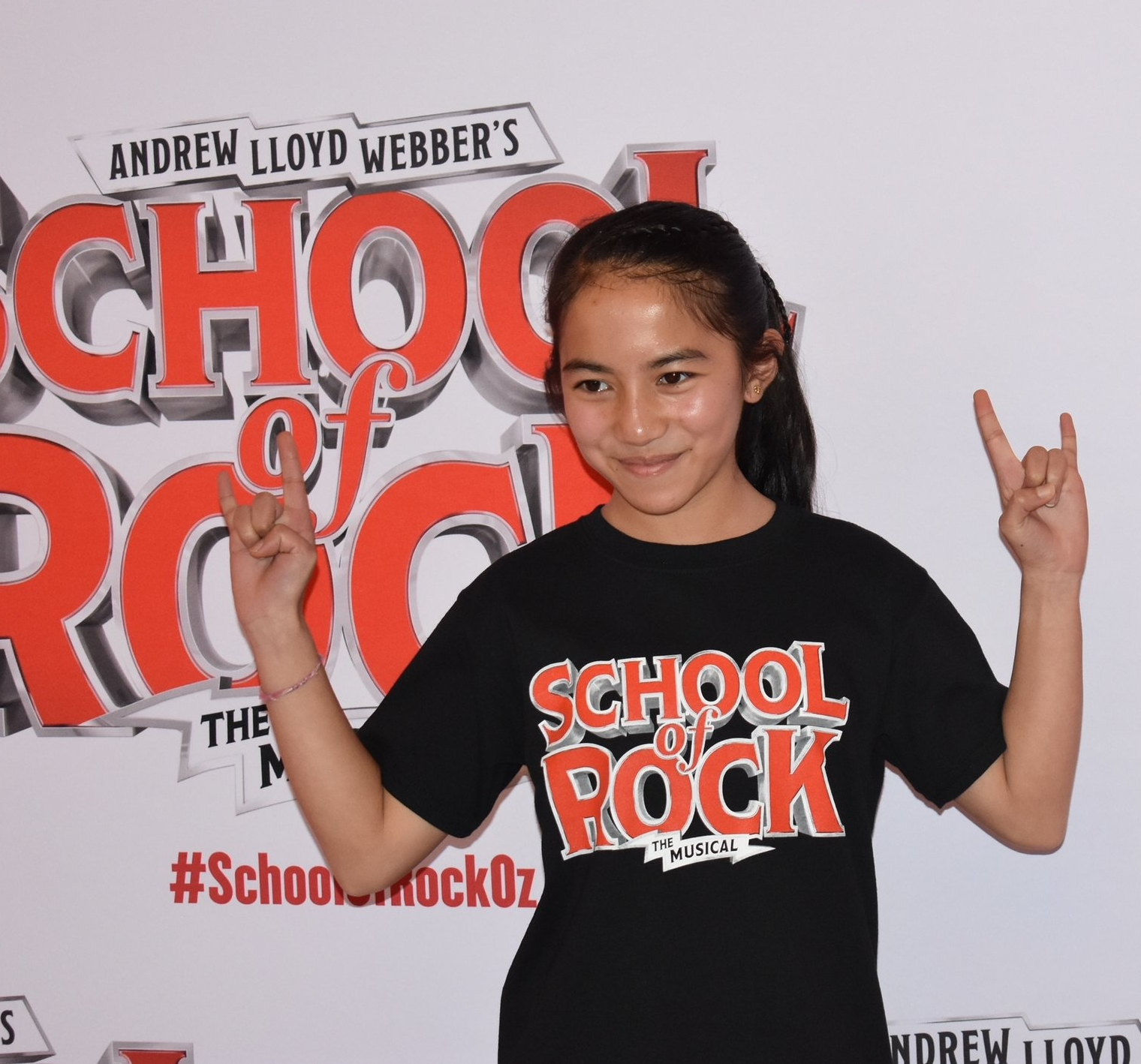 South Yarra student Chihana at the media release for her role as 'Tamika' in the Melbourne production of Andrew Lloyd Webbers 'The school of Rock'