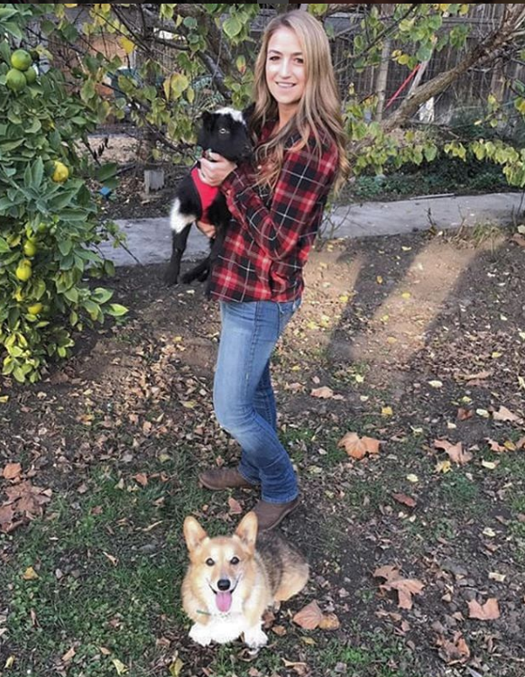 Jenna Doty   She was born and raised in Santa Cruz and has been a veterinary technician for almost 5 years. In her spare time Jenna enjoys running, going to the beach, and spending time with her rescue dog, Dixie and adventuring with her dwarf goat, Nelson!