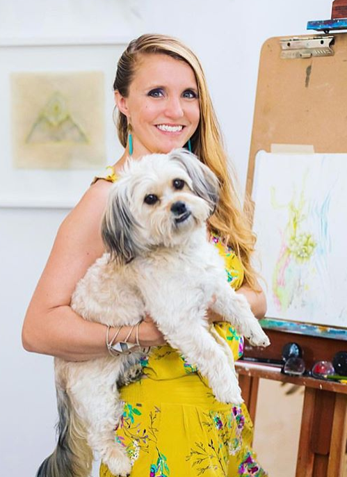 Dana Peters   Dana grew up in the country surrounded by dogs, cats, cows and horses. In addition to being an animal lover she has been an artist since the day she could hold a pencil. When she's not hiking and running dogs by day, Dana makes art and co-owns a local art gallery, The Art Cave by night. She is never without her canine companion on the trails and assistant in the studio: Gidget!