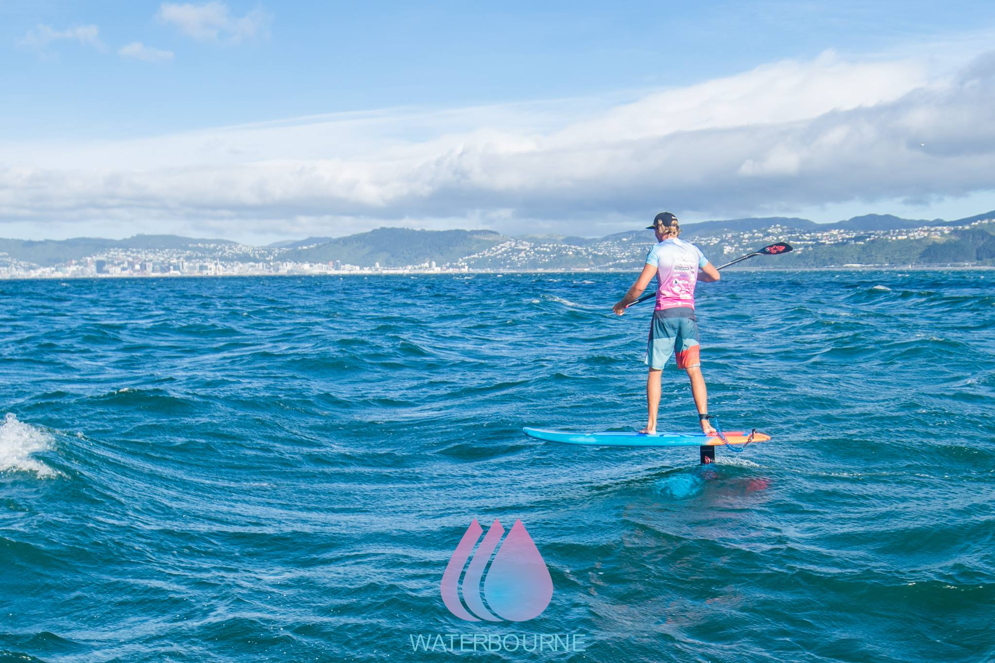 foiling-downwind-ocean-clash-paddle-board