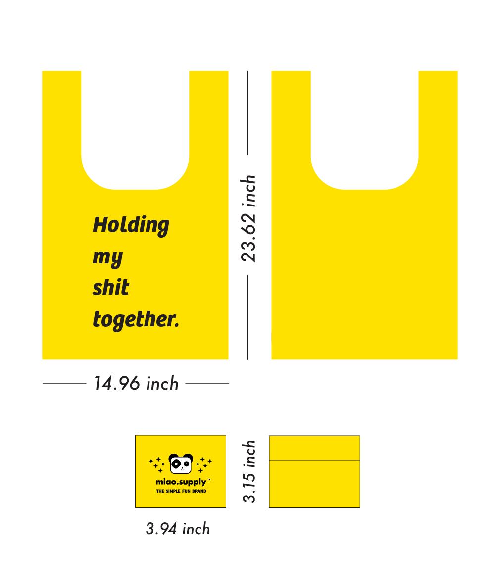 shit bag size information