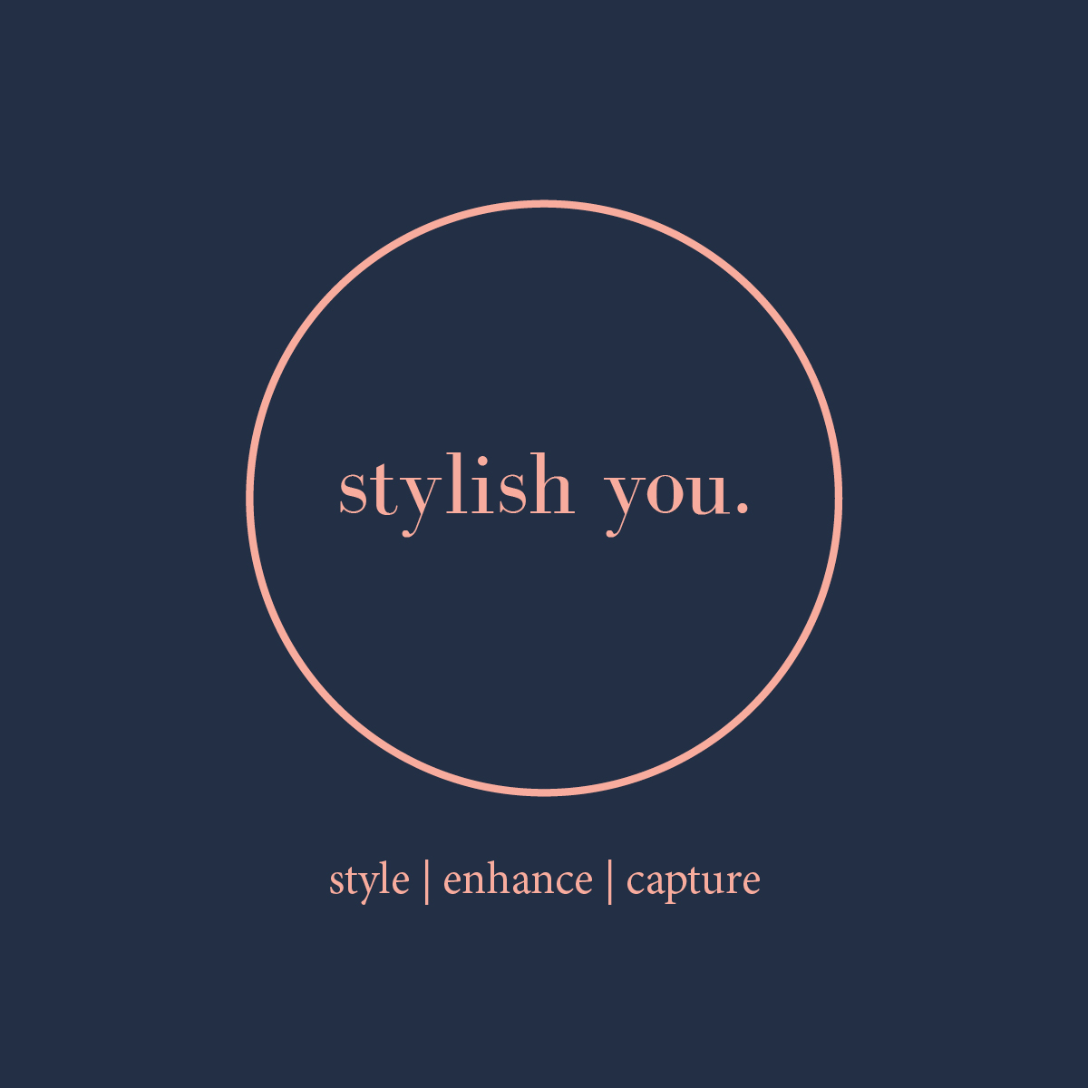 stylish you.  - Logo design for small business 'stylish you.', a company specialising in all inclusive personal styling packages including an HMU Photoshoot.