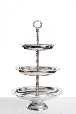 Three tier silver cake stand I $18.00