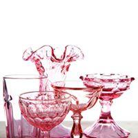 Assorted Vintage Pink Vase I $5.00 I Qty