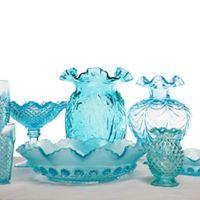 Assorted Vintage Blue Vase I $5.00 I Qty
