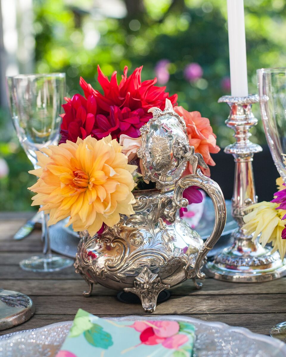 Assorted Antique flower vessels Silver I from $5.0