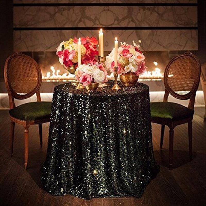 Large Black Sequin Tablecloth -Rectangle I $50.00 I Qty 1