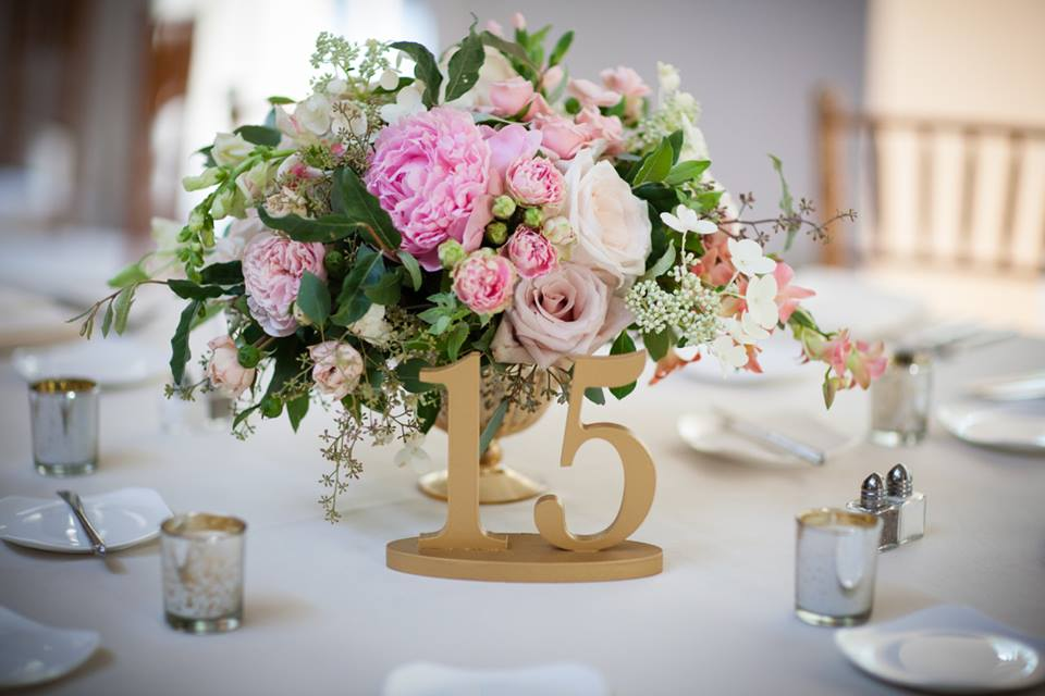Gold Table Numbers I $3.00 each I One to twenty