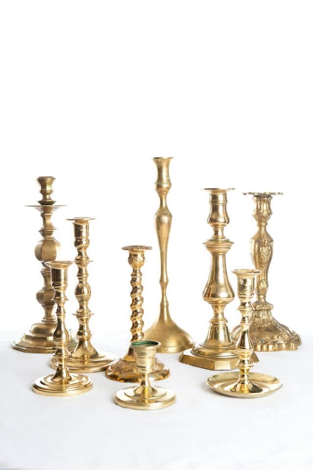 Brass Candlesticks I $5.00 I Qty 166 I Large I $10 I Qty 110