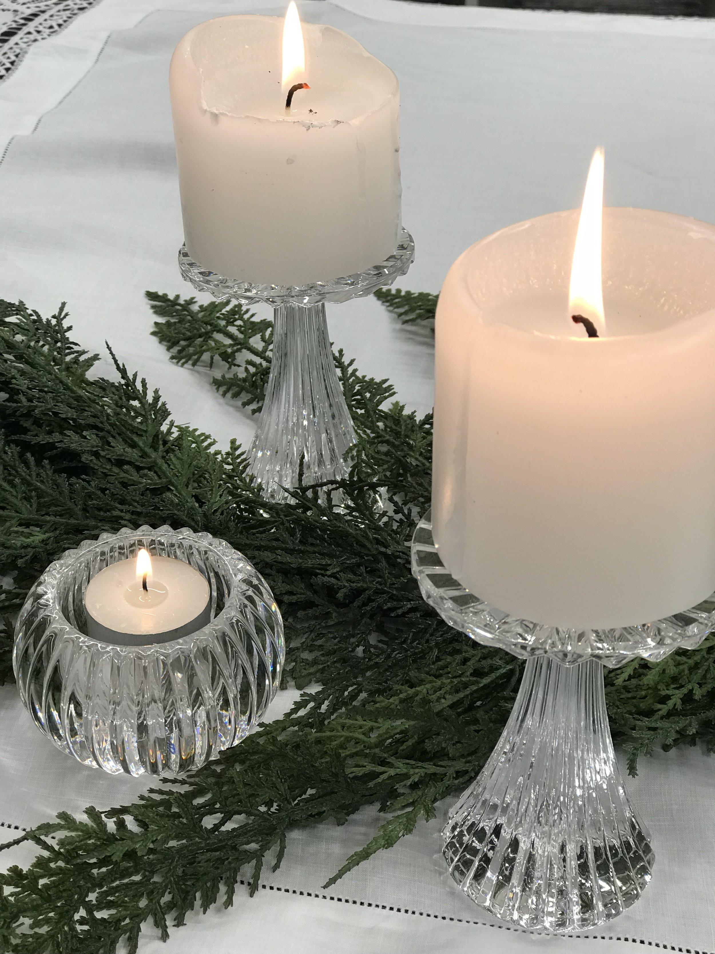 Crystal Tealights & Candlesticks I $  I Qty