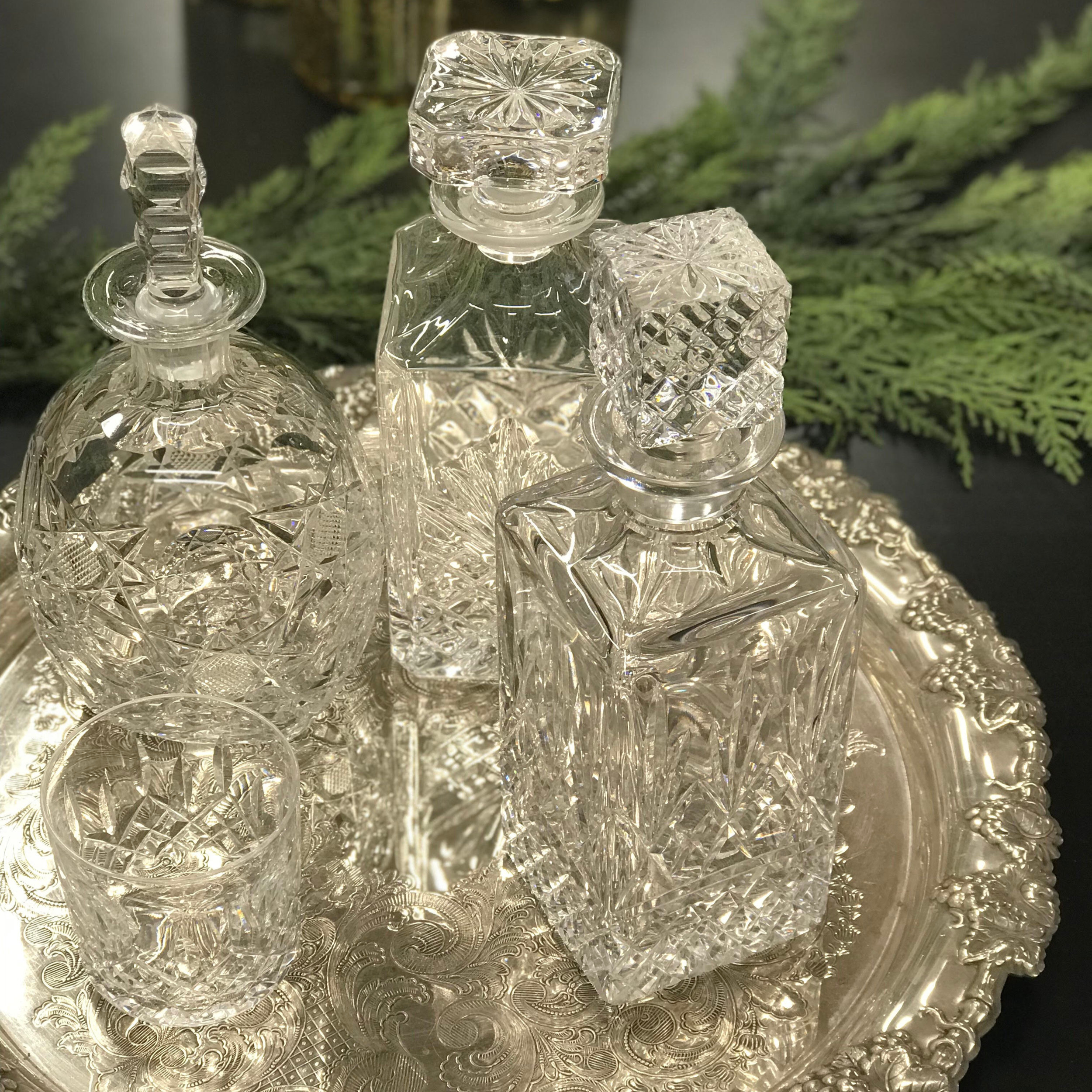 Assorted Crystal Decanters I $10.00 each I Qty 6