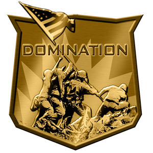 DOMINATION  Domination is a classic battle for superiority is ideal for teams and risky players. The Dominators (Capture points) are placed around the field and both teams must fight to claim them. A player must get to the Dominator and shoot down the center of the Tube (Dominator) to claim it for their team. While the Dominator is claimed by one side or another, it glows their team colour and secures point. The Team with the highest total of points at the end of the game wins.  RULES:  -There are 3 Dominators Tube  -Stand over the Tube and shoot the centre of the Tube/Stand under the Tube and shoot the centre of the Tube once claimed:  -Tubes will glow the colour of the team that claims it:  -Alpha Team (Black Team) glows Blue  -Bravo Team (Green Team) glows Green  -While Captured by a Team the gain points  -Team with the most points at the end of the game wins  Team: Alpha Health: 100 Lives: Unlimited  Team Alpha Health: 100 Lives: Unlimited