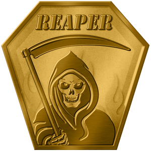REAPER  This modified version of Team Deathmatch puts 2 teams against each other, each team with a limited amount of respawns and players having 100 health. When one team is completely eliminated, with no respawns remaining they have been defeated. Advanced players would do well to help out the newer players during the battle in order to preserve team respawns. Teams will start with a total of 4 respawns for each player (10 players = 40 respawns)  Rules:  -Similar to Team Deathmatch  -100 Health pre person  -Limited Respawns  -Each team will have a pool of respawns equal to 4 times the number of player on the field  -First team to ru out of respawns or has less respawns that the other team remaining looses  Team: Alpha Health: 100 Lives: Depending on how many players  Team: Bravo Health: 100 Lives: Depending on how many players