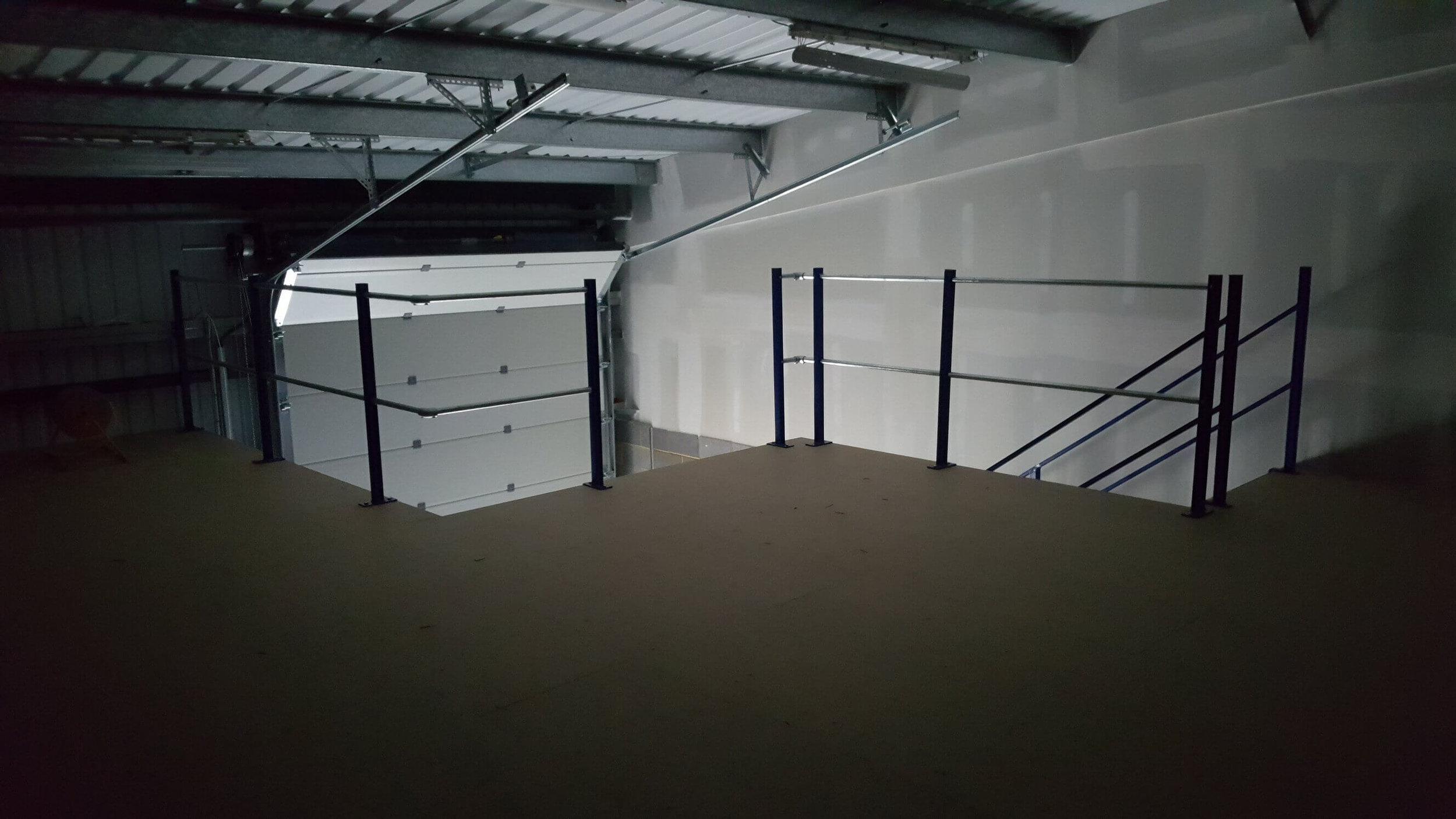 - Future cold room space on mezzanine #1