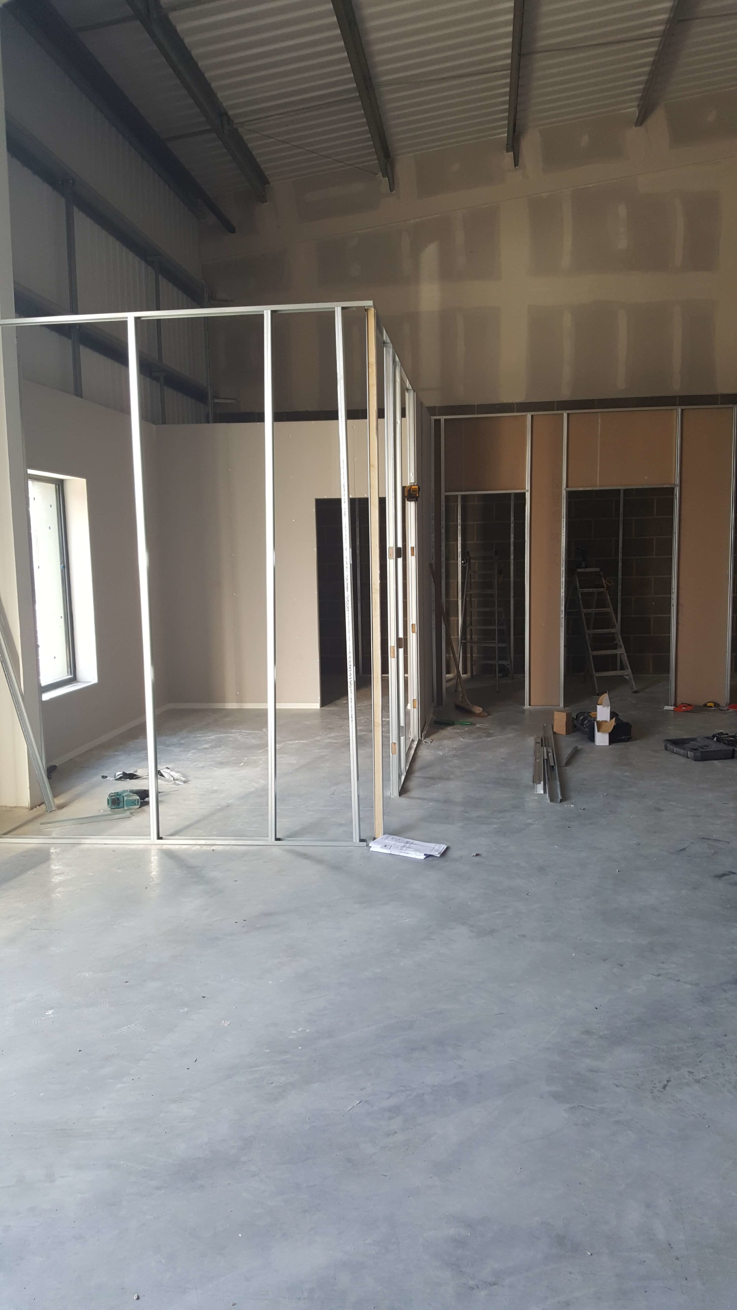- Unit 3 - work starts on offices and toilets